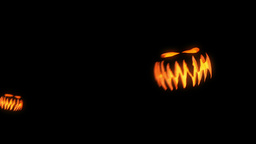 Flying Halloween Pumpkins stock footage
