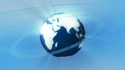 Broadcast globe animation. E Animation