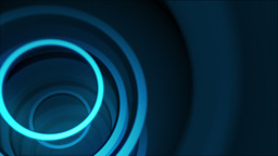 Bright blue neon rings Animation