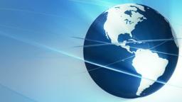 Broadcast globe animation. A Animation