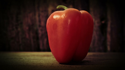 Red pepper in close up HD stock footage Footage