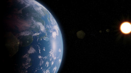 Rotating earth view from space Animation