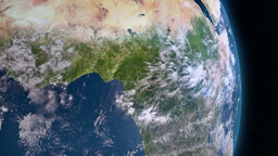 Earth 3d View From Space. Central Africa stock footage