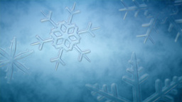 Animated growing ice crystals Animation