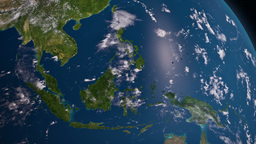 Earth 3d View From Space. South East Asia stock footage
