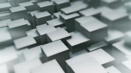 Background Loop Of Waving Cubes. Version B stock footage