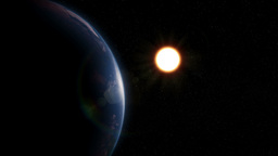 Sunrise in space Animation