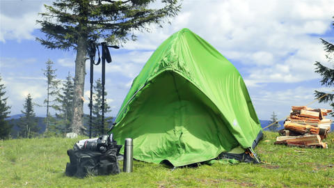 Tent of the Photographer on Nature Footage