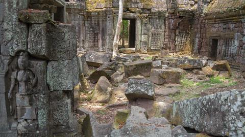 Angkor temple slider timelapse 4K Footage