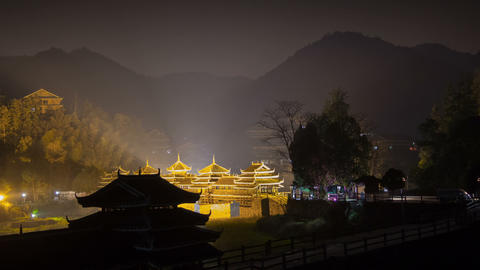 ChengYang village night timelapse Footage