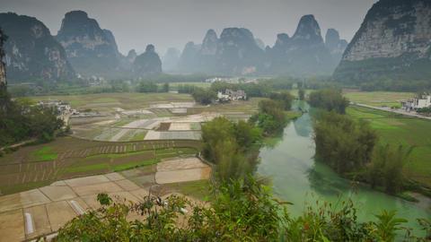 Mingshi Scenic Area landscape slider timelapse Footage
