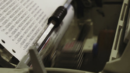 Dot Matrix Printer stock footage