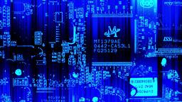 Printed circuit board and transistors close up HD  Footage