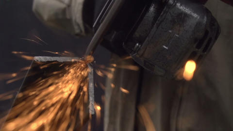 Cutting of Metal Products Footage