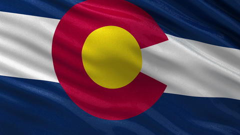 US state flag of Colorado seamless loop Animation