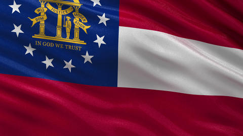 US state flag of Georgia seamless loop Animation