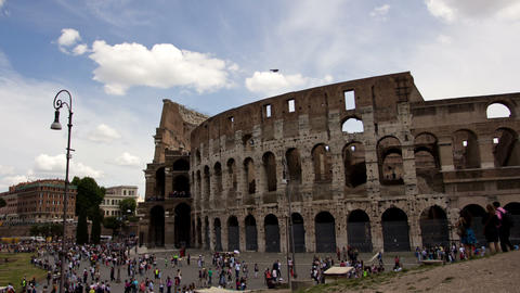 ROME, ITALY MAY 29, 2014: The Colosseum Time Lapse Footage