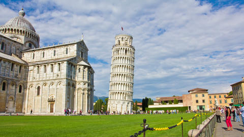PISA, ITALY - 3 JUNE 2014: Tourists on Square of M Footage