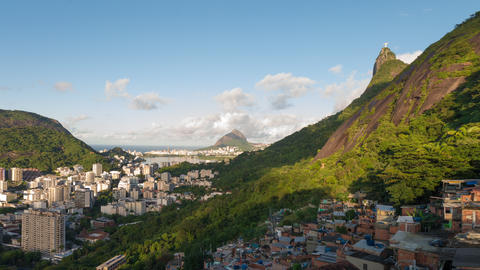 Sunrise time-lapse of Rio from the hills behind the city Footage