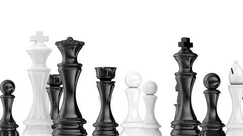 Rotating Chessboard - With Alpha Matte stock footage