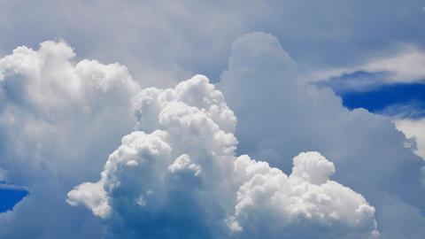 Cumulus congestus clouds passing by Footage