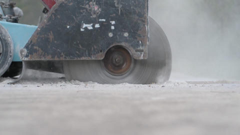 Concrete Saw stock footage