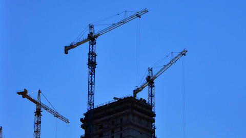 Construction cranes Footage