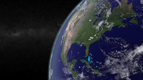 North America from space Animation