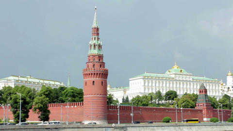 View Of Kremlin Wall, Towers stock footage