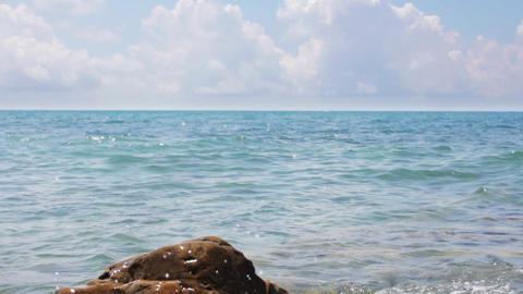 Rock Ana Light Blue Sea stock footage