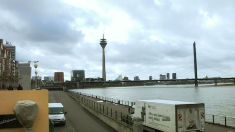 Dusseldorf Tower. Germany stock footage