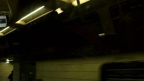 Paris subway train stations Footage