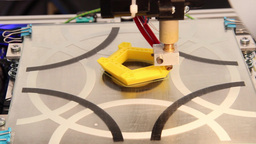 3D printer printing plastic model 4 Footage