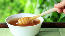 Fresh honey in a bowl Live Action