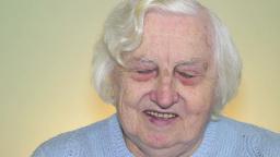 Portrait of happy, smiling elderly woman 2 Stock Video Footage