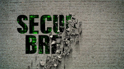Security Breach Crumbling Wall Code Matrix Animation