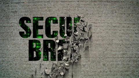 Security Breach Crumbling Wall Code Matrix Animation