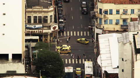 Time lapse footage of busy Rio intersection Footage