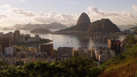 Static footage of Rio de Janeiro, Guanabara Bay, and Sugarloaf Footage