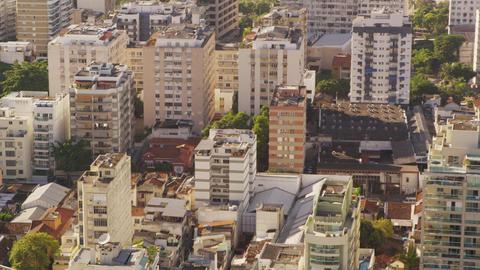 Summer in the city tilt shot of Rio de Janeiro's architecture Footage