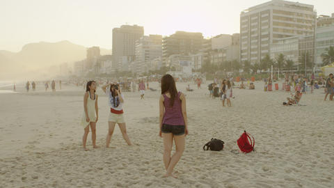 RIO DE JANEIRO-JUNE 16: A woman is photographed on the beach on June 16, 2013 in Footage