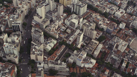 Slow motion, aerial view of Rio de Janeiro Footage