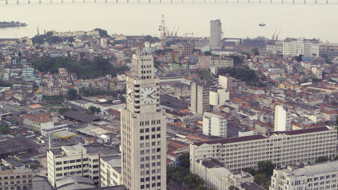 An Aerial View Of Rio De Janeiro's City. Central D stock footage