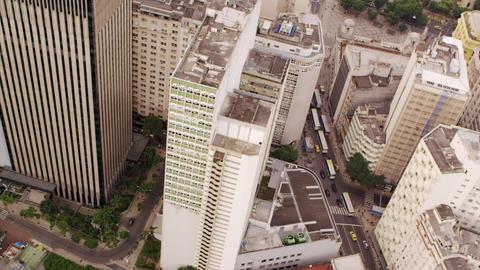 Aerial shot of the metropolis - Rio de Janeiro, Brazil Footage