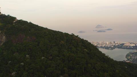 Tracking pan shot of Rio de Janeiro, Brazil Footage