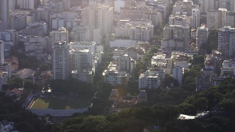 Bird's eye view of Rio de Janeiro Footage