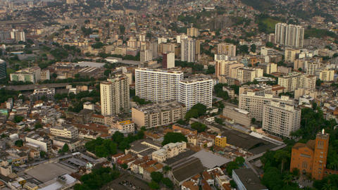 Aerial footage of Rio de Janeiro from land to sea Footage