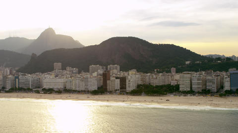 Shot of Rio de Janiero's coastline from the sea Footage