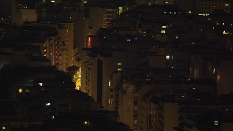 Panning shot of building rooftops in Rio de Janeiro, Brazil Footage