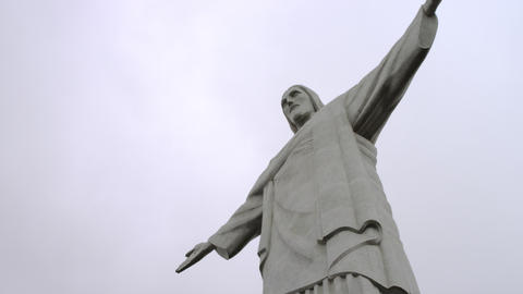 Pan Tilt The Statue Of Christ The Redeemer In Rio  stock footage